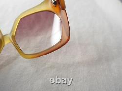 Christian Dior vintage 2005 amber orange large red optyl sunglasses 70's