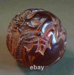 Fine Amber Color Resin Translucent Chinese Zodiac Ball