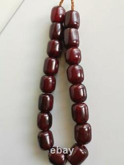Genuine Antique Cherry Amber Faturan Beads. Rosary. 134gram
