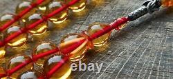 Islamic Prayer Beads Tasbih, ANTIQUE OTTOMAN CHERRY AMBER, FATURAN, OSMANLI ATES