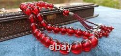 Islamic Prayer Beads Tasbih FATURAN ANTIQUE OTTOMAN CHERRY AMBER OSMANLI ATES