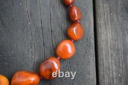 Natural Amber necklace antique from Denmark baltic amber 54g