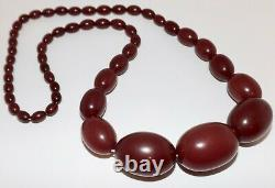 Old Antique Bakelite Cherry''Amber'' Beads Necklace (123.5 g.)