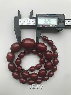 Old/Antique Bakelite cherry''Amber'' necklace (107.3 g.) 209E