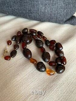 Old Antique Cherry Amber Beads Natural Untreated