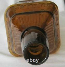 Original Antique Vintage H. P. Herb Wild Cherry Amber Bitters Bottle Reading Pa