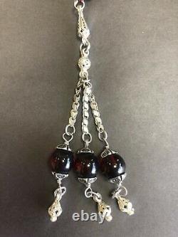 Ottoman Antique Faturan cherry amber bakelite islamic prayer 33 beads 83 Grams R