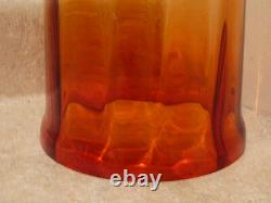 S20 Rare Antique Art Glass Amberina Red Amber Table Bell Butter Cheese Dome Dish