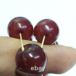 Tested German Antique 33 amber bakelite Prayer Beads cherry faturan Catalin
