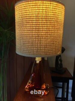 Vintage 1960s Murano Sommerso Twisted Amber and Red Lamp Base Pietro Tosi