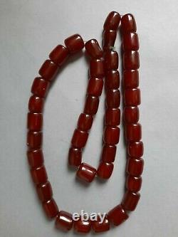 Vintage Cherry Amber Bakelite Beads 88 gr. 33 cm