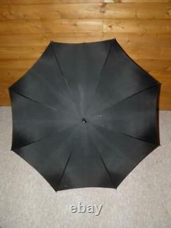 Vintage English Made Cherry Amber Ball Topped Umbrella With Black Canopy