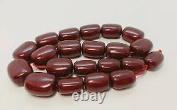 221 Grams Antique Cherry Amber Faturan Grandes Perles Collier
