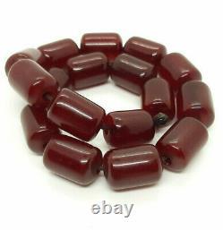 53,8 Antique Grams Faturan Cerise Ambre Collier Rosaire Perles Tesbih Prière Perle
