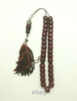 80 Grams Antique Faturan Cerise Bakélite Ambre Perles Rosaire Misbah Marbré