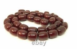 98.7 Grammes Antique Faturan Cherry Amber Prayer Rosary Perles Misbah Marbled