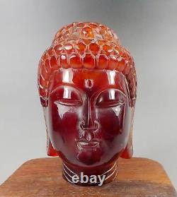 9red Amber Sculpture Guanyin Kwan-yin Statue