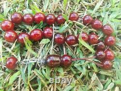 Allemand Cherry Amber Faturan Bakelite Ancienne Perles De Prière D'inquiétude Tesbih Kompoloi