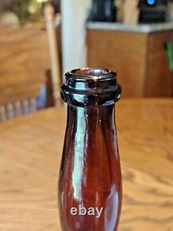 Amberladies Antique De 1860 Leg Whiskey Bouteille 11.75, Nice