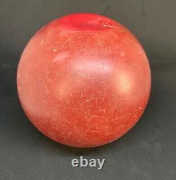Antique Amber Bakelite Catalin Old Ball Prayer Block Rod Rare Red Brown 2832 G