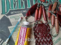 Antique Art Déco Années 1920 Sculpté Cherry Amber Bakelite Swirl Beads Collier Testé