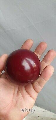 Antique Art Déco Cherry Couleur Opaque Bakelite Ball