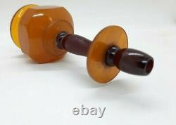 Antique Bakelite Cherry Amber Faturan Avec Veines/damari Narguilé 98 Grammes
