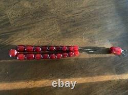 Antique Cerise Ambre Bakélite Faturan Perles De Prière Komboloi 45 Grammes Extra Rare