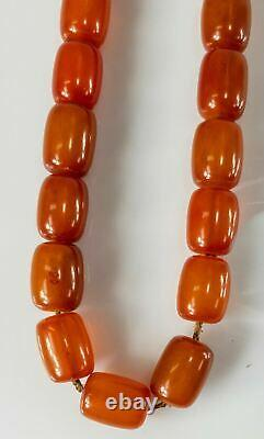 Antique Cherry Amber Honey Bakelite Faturan Catalin Collier De Prière 54.2 Grammes