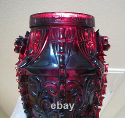 Antique Chinese Cherry Amber Bakélite Vase Eléphant 1170 Grams