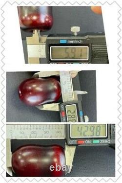Antique Faturan Amber Rouge Cerise Arabe Turquie Hookah Sihsha 2 Bouches R3