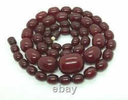 Antique Faturan Cherry Amber Bakelite Collier 97 Grams