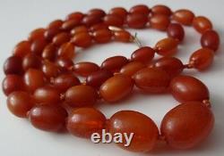 Antique Jaune D'œuf Rempli D'or Véritable Cherry Butterscotch Baltic Amber Collier