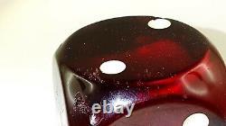 Antique Old Cherry Amber Bakelite Dés 188 Grammes
