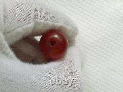 Antique Ottoman Red Cherry Amber Bakelite Faturan Damari Spiral Damari 5,5 Gr