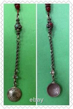 Antique Pelé Damari Faturan Cerise Ambre Bakelite Perles De Prière Islamique 31g R1