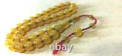 Antique Pouf Cherry Amber Tasbih Misbaha Nouveau Rasée 33 Perles Osmanli Sikma