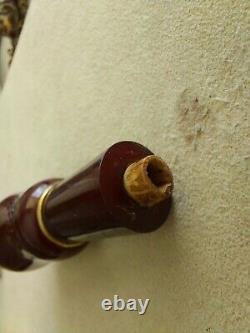 Antique Rare Old Faturan Amber Red Cherry Arabic Turkey Hookah Sisha Porte-parole