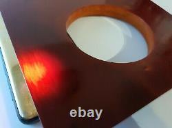 Antique Vintage Old Ambre Bakélite Cerise Dés Perles Faturan Bloc Veiné 500 Gr