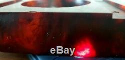 Antique Vintage Old Ambre Bakélite Stardust Faturan Perles Cerise 242 Gr Bloc