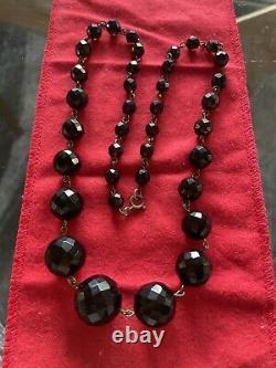 Art Déco Flapper Era Cherry Amber Bakelite Beads Collier Vintage Antique 39g