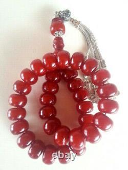 Bernstekette Cherry Bakelit Catalin Collier Amber Amber Ambre Antique