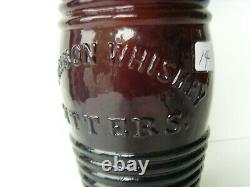 Bouteille À Amers Rouge-ambre Antiquité Riche 91⁄2 1860-1870 67/14