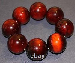 Bracelet De L'ambre Naturel Antique Rouge D'entreprise 29-31mm, 114g