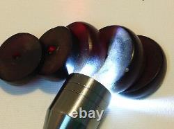 Cerise Chinoise Antique Bakélite 43,1 Grammes Lot De 6 Perles (m1619)