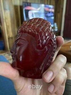 Cherry Amber Bakelite Faturan Object Marbled And Huge Antique Chinese Era
