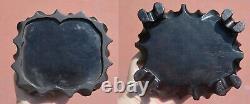 Chinese Cerise Foncé Amber Bakelite Sculptée Bouddha Heureux Figure 791 Gram