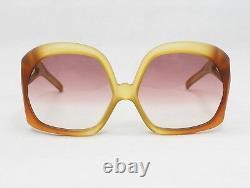 Christian Dior Vintage 2005 Orange Ambrée Grandes Lunettes De Soleil Optyle Rouge Années 70