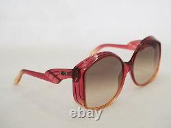 Christian Dior Vintage 2041 Jaune Ambre Rouge Lunettes De Soleil Oxyl Orange Surdimensionnées