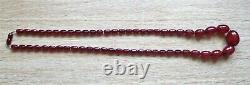 Collier Antique De Perles De Bakelite D'ambre D'ambre D'art Déco